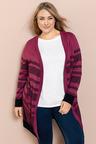 Plus Size - Sara Stripe Cardi