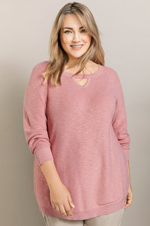 Plus Size - Sara Keyhole Jumper - 222152
