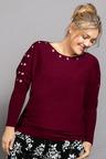 Plus Size - Sara Eyelet Sleeve Sweater