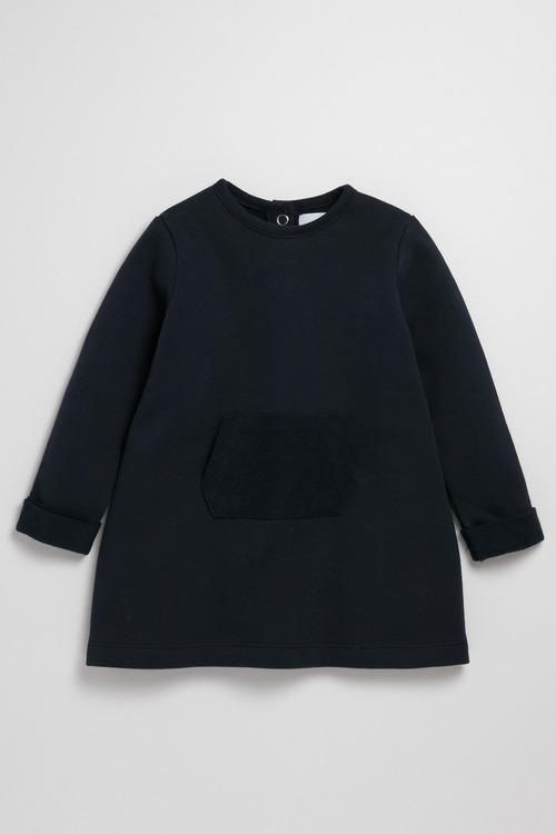 Pumpkin Patch Long Sleeve Fleece Dress with Front Pocket