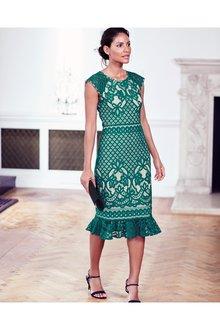 Next Lace Flute Hem Dress