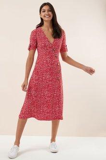 Next Wrap Midi Dress