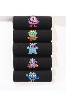 Next Monster Embroidered Socks Five Pack