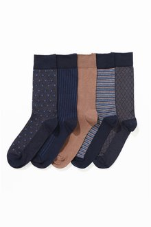 Next Mixed Pattern Socks Five Pack