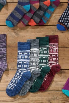 Next Slub Yarn Heavyweight Socks Four Pack