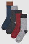 Next Heel And Toe Socks Four Pack With Wool And Silk