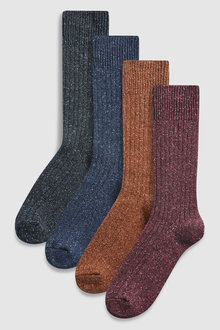 Next Socks Four Pack With Wool And Silk