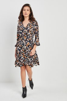 Next Print Wrap Dress - 222312