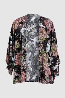 Next Bird Floral Pattern Kimono