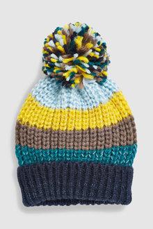 Next Stripe Pom Hat
