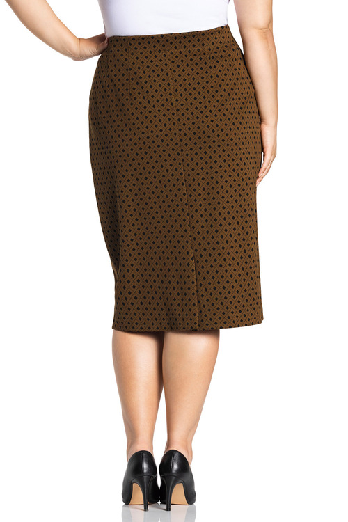 Plus Size - Sara Ponte Skirt