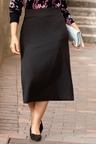 Plus Size - Sara Ponte Button Skirt