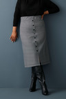 Sara Ponte Button Skirt