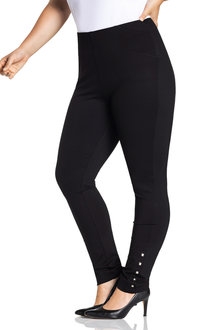 Plus Size - Sara Hem Detail Ponte Pant