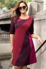 Plus Size - Sara Panel Detail Ponti Dress