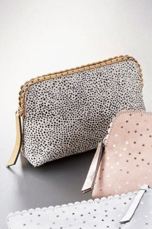 Next Leather Pony Effect Cosmetic Bag