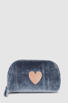 Next Velvet Glitter Cosmetic Bag