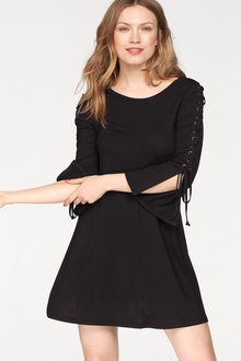 Urban Lace Up Detail Dress - 222396