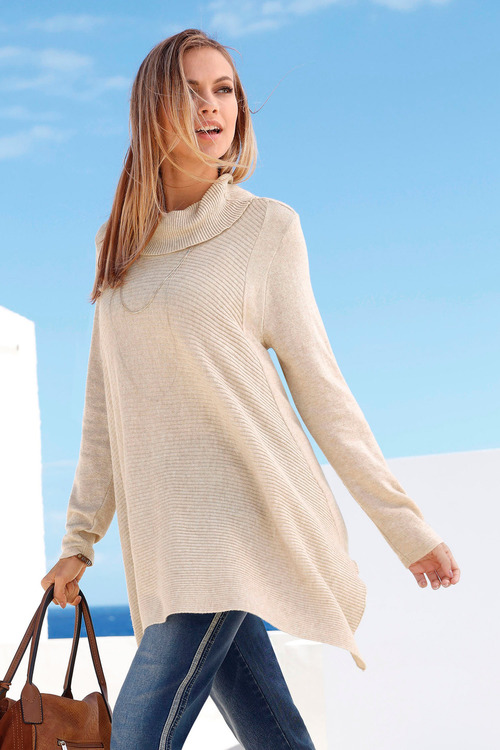 Euro Edit Poncho Hem Jumper