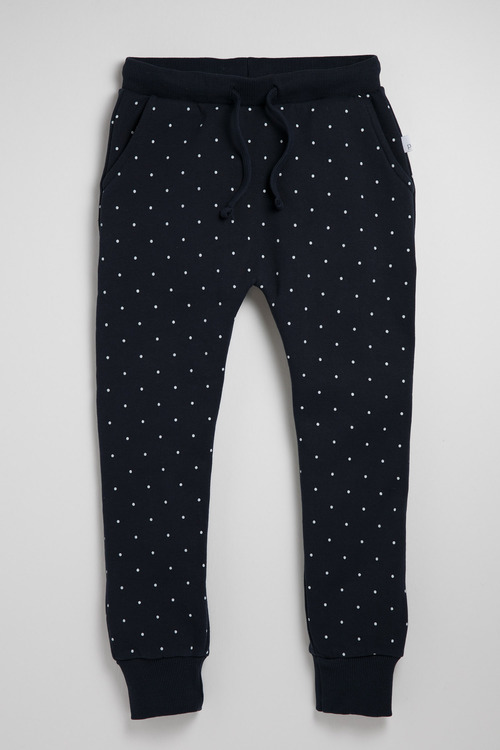 Pumpkin Patch Navy Spot Fleece Jogger