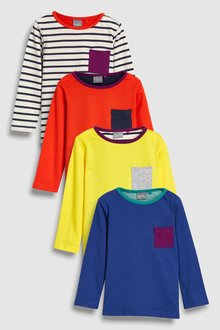 Next Colourblock T-Shirts Four Pack (3mths-6yrs)
