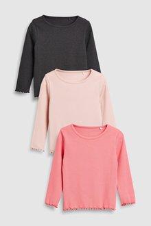 Next Basic Rib T-Shirts Three Pack (3mths-6yrs)