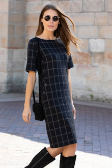 Capture Ponte Check Shift Dress