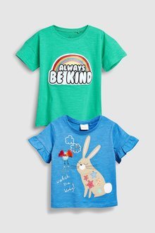 Next Bunny Slogan T-Shirts Two Pack (3mths-6yrs)