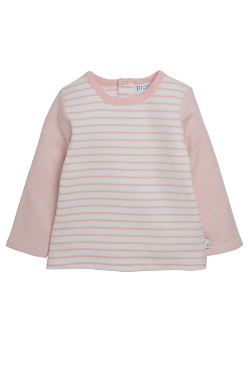 Pumpkin Patch Striped Long Sleeve Tee