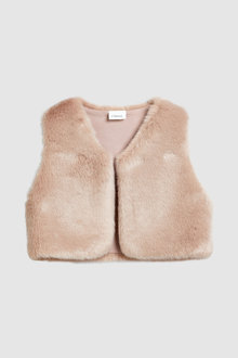 Next Faux Fur Gilet (3mths-6yrs)