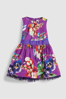 Next Floral Belted Prom Dress (3mths-6yrs)