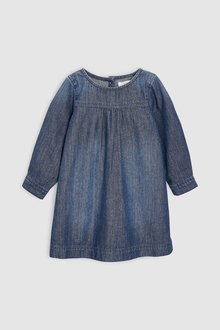 Next Roll Sleeve Denim Dress (3mths-6yrs)