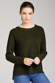 Emerge Cotton Blend Pocket Jumper - 222551