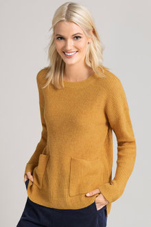 Emerge Cotton Blend Pocket Jumper