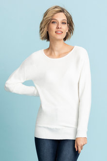 Emerge Ribbed Batwing Sweater - 222555