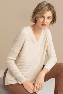 Emerge Rib Asymmetrical Hem Sweater
