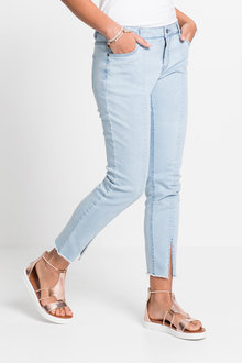 Urban Split Hem Detail Jeans - 222582