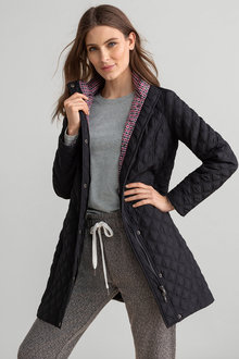 Capture Quilted Longline Jacket - 222583