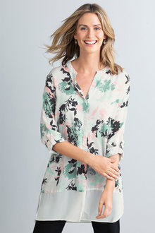Capture Contrast Trim Shirt - 222585