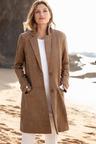 Capture Suedette Panelled Coat