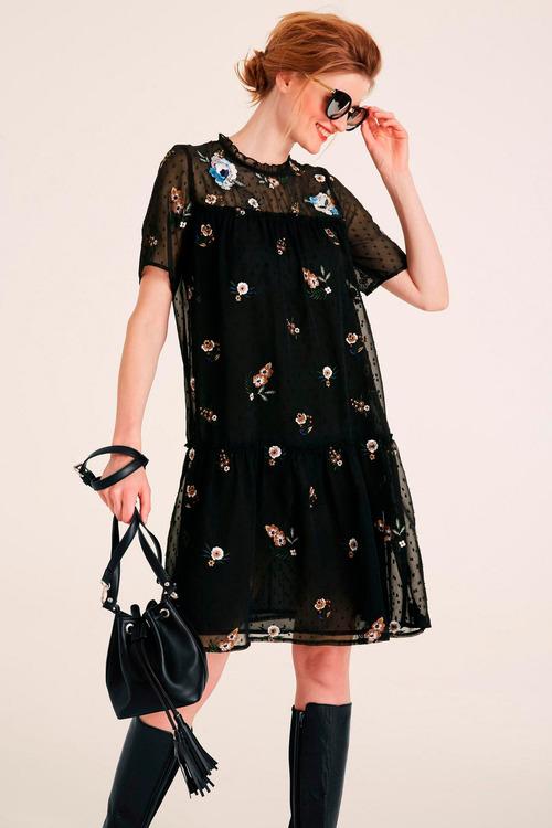 Heine Floral Embroidered Dress
