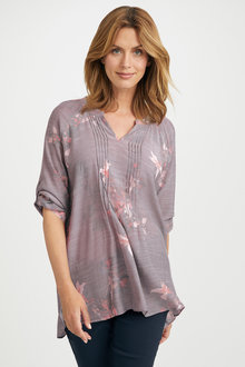 Capture Pintuck Tab Sleeve Top - 222668