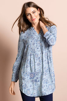 Capture Longline Pintuck Tunic
