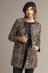 Capture Zip Front Collarless Coat