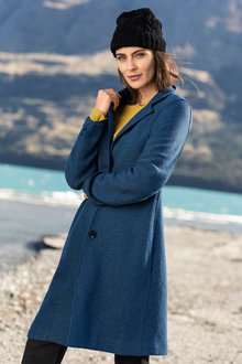 Capture Boiled Wool 3 Button Coat - 222738