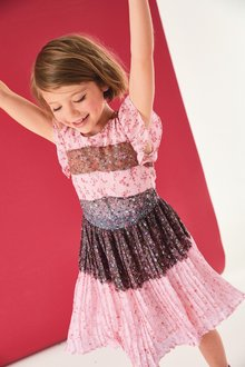 Next Pleat Dress (3-16yrs)