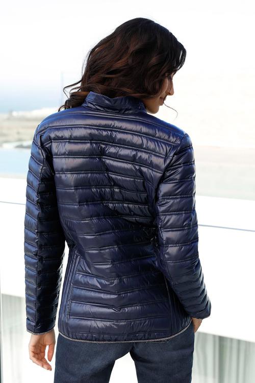 Euro Edit Silver Trim Puffer Jacket