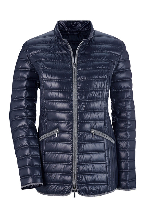 Euro Edit Silver Trim Puffer Jacket
