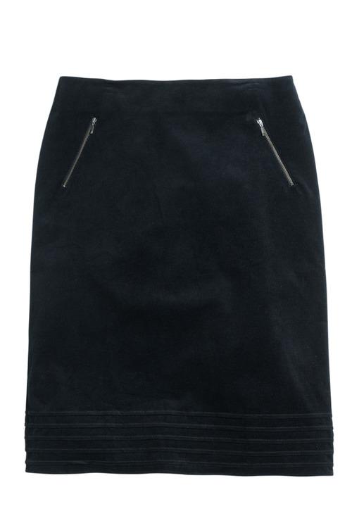 Plus Size - Sara Cord Pintuck Midi