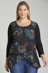 Plus Size - Sara Layered Print Top